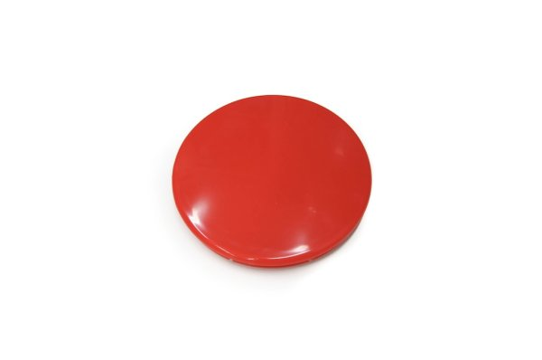 画像1: [純正部品] フロントカバーキャップ(赤)(丸) (1)